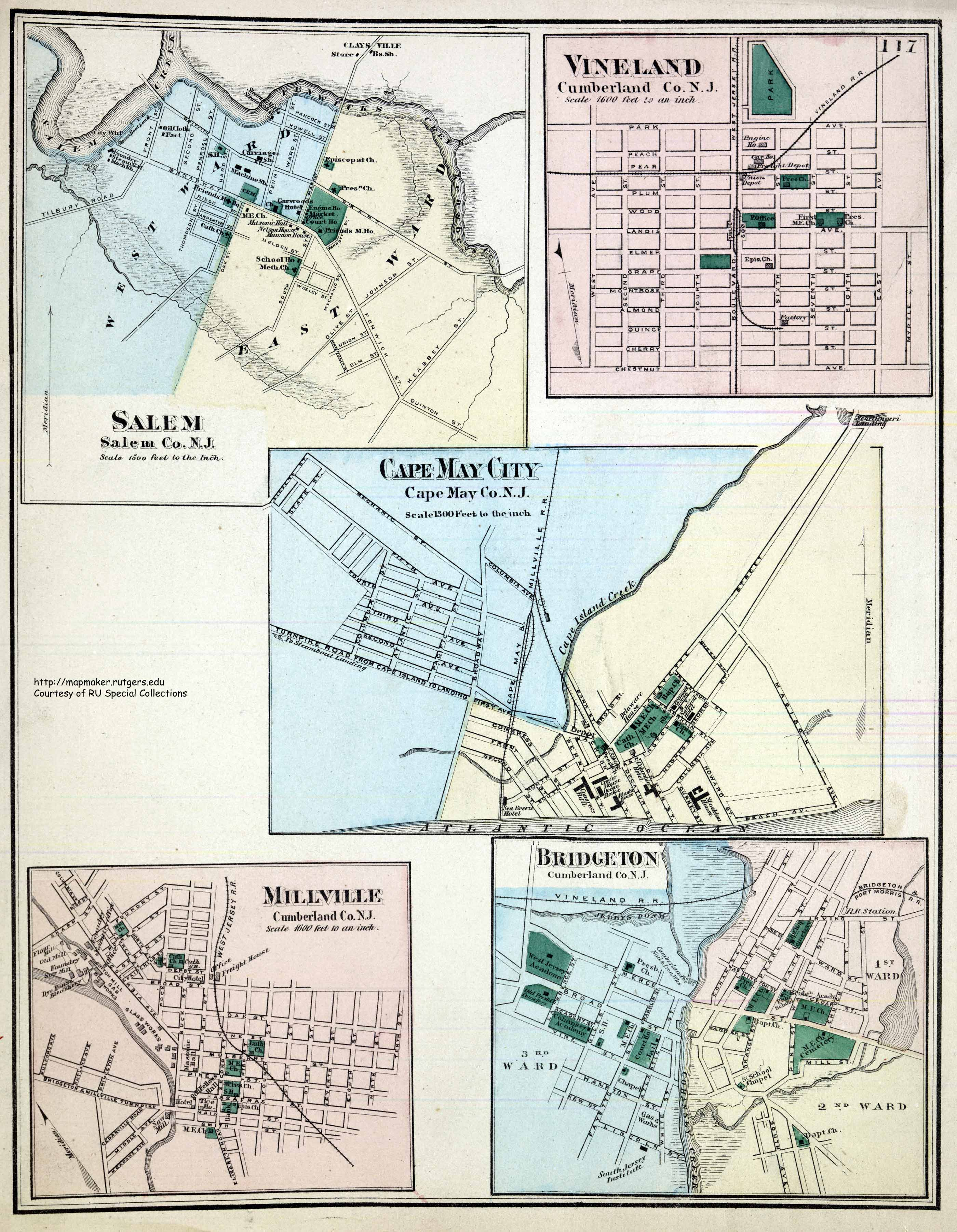 New Jersey Historical Maps – Cape May Tourist Map