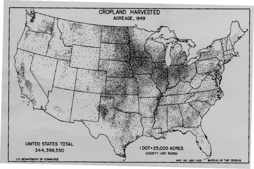 Dot Density Maps History - Us dot map