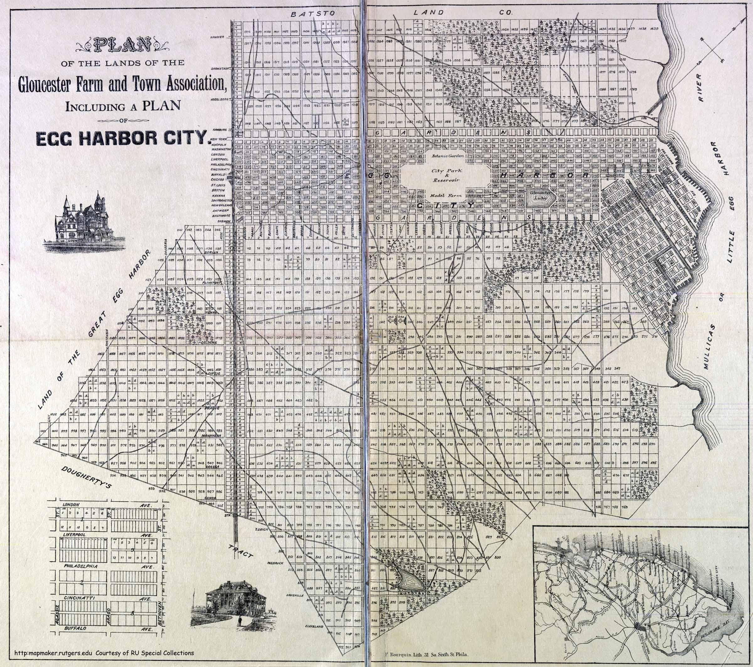 Historical Atlantic County, New Jersey Mapsegg harbor city city