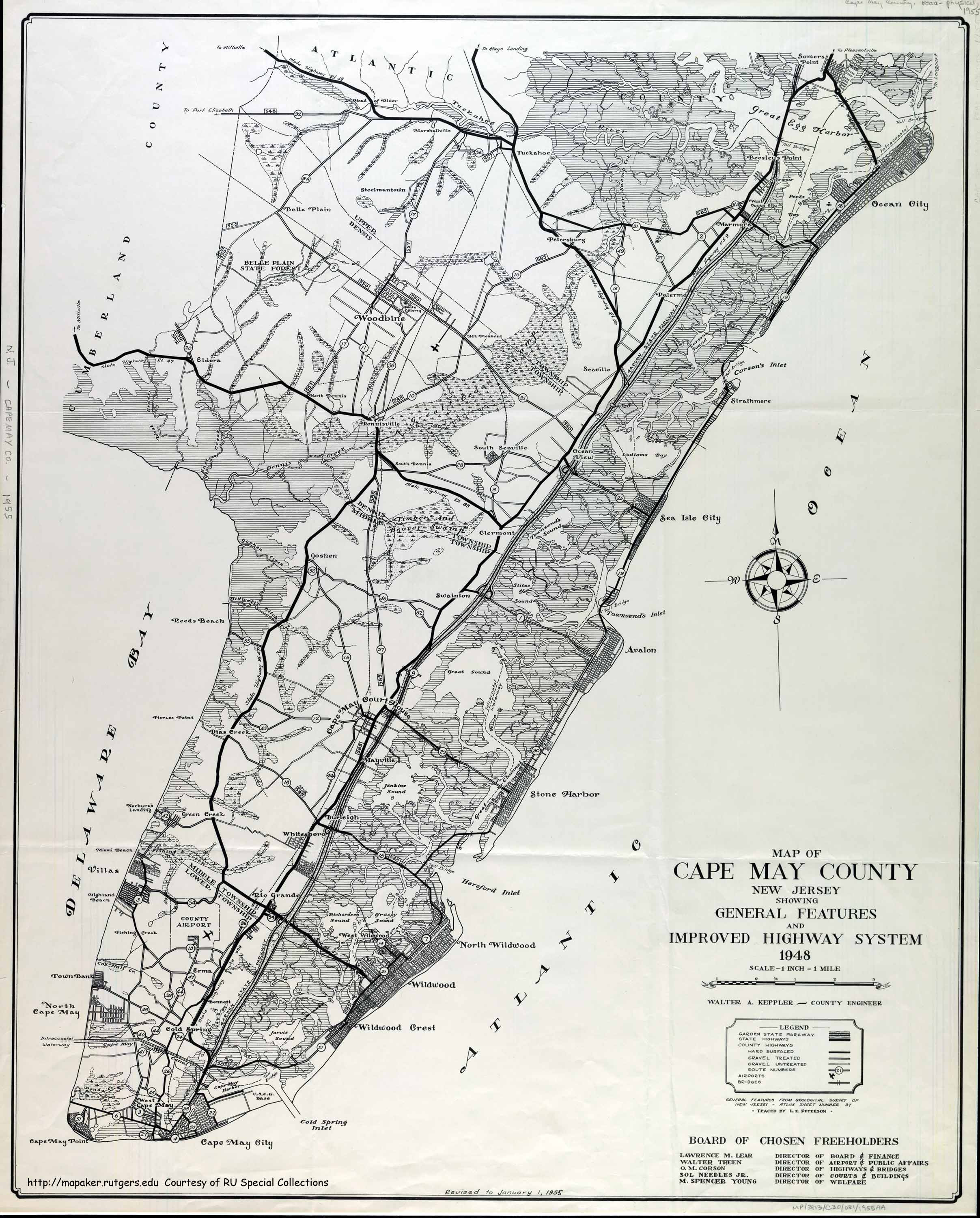 Historical Cape May County New Jersey Maps