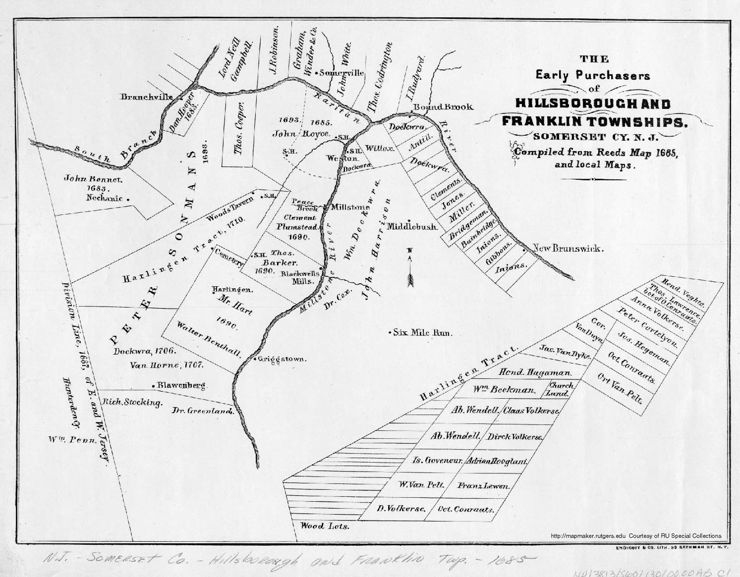 New jersey somerset county flagtown - Early Purchasers Of Hillsborough Montgomery And Franklin Townships 1685