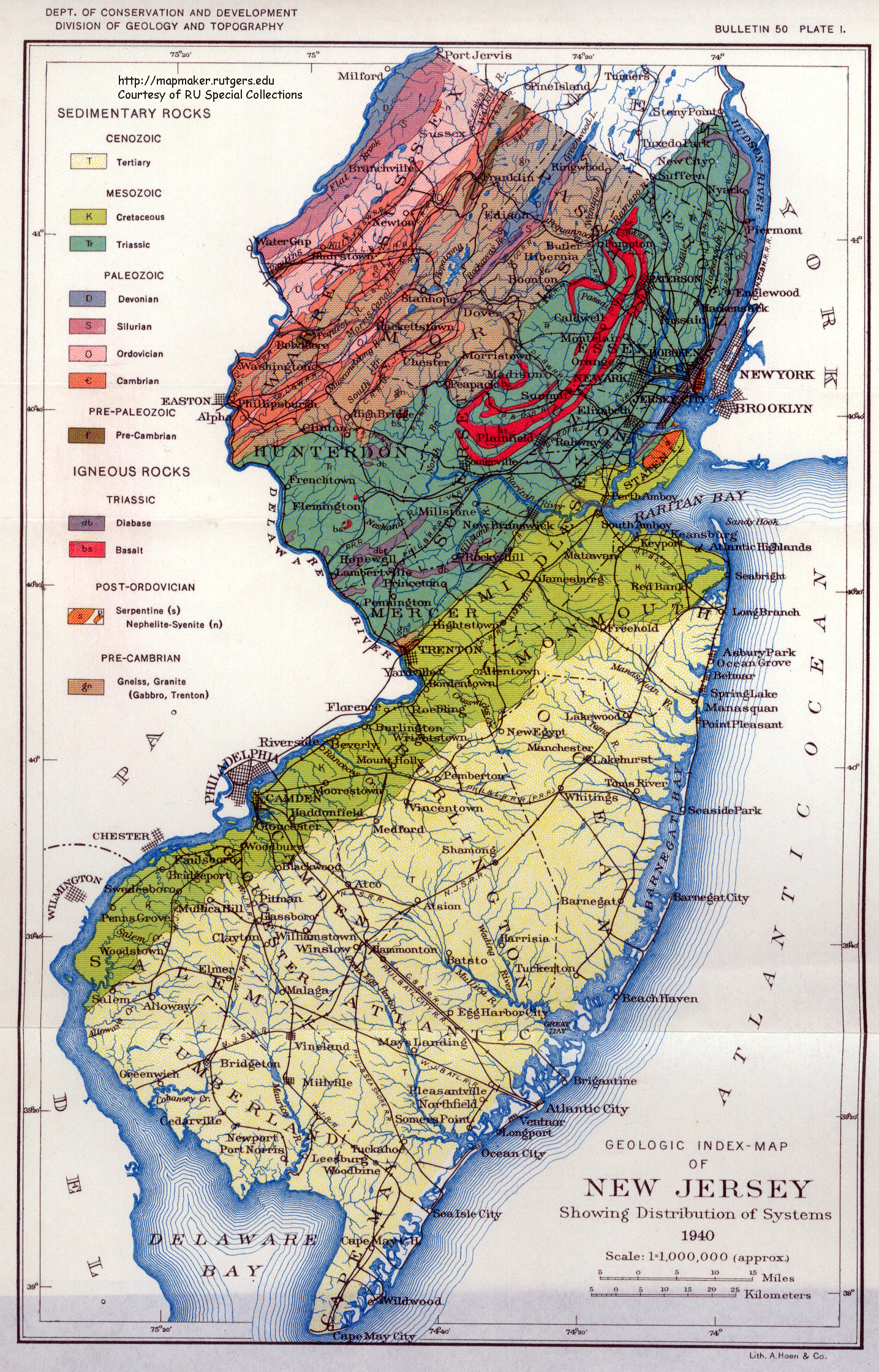 New Jersey Historical Maps - Maps of nj