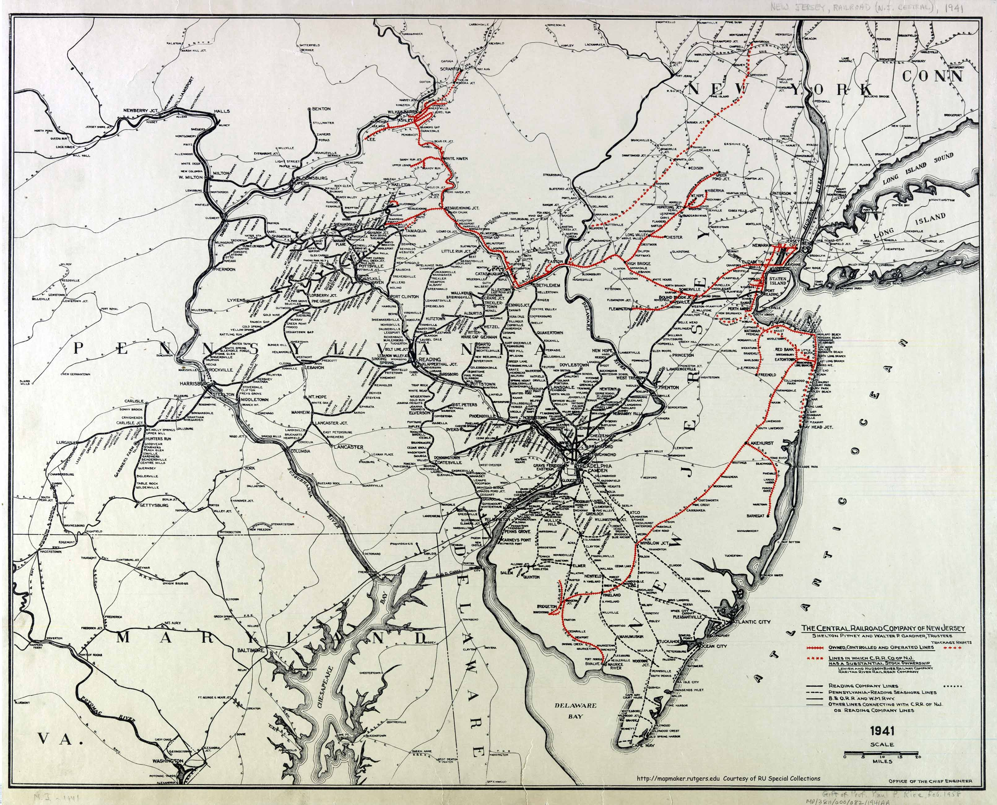 central railroad . historical new jersey railroad maps