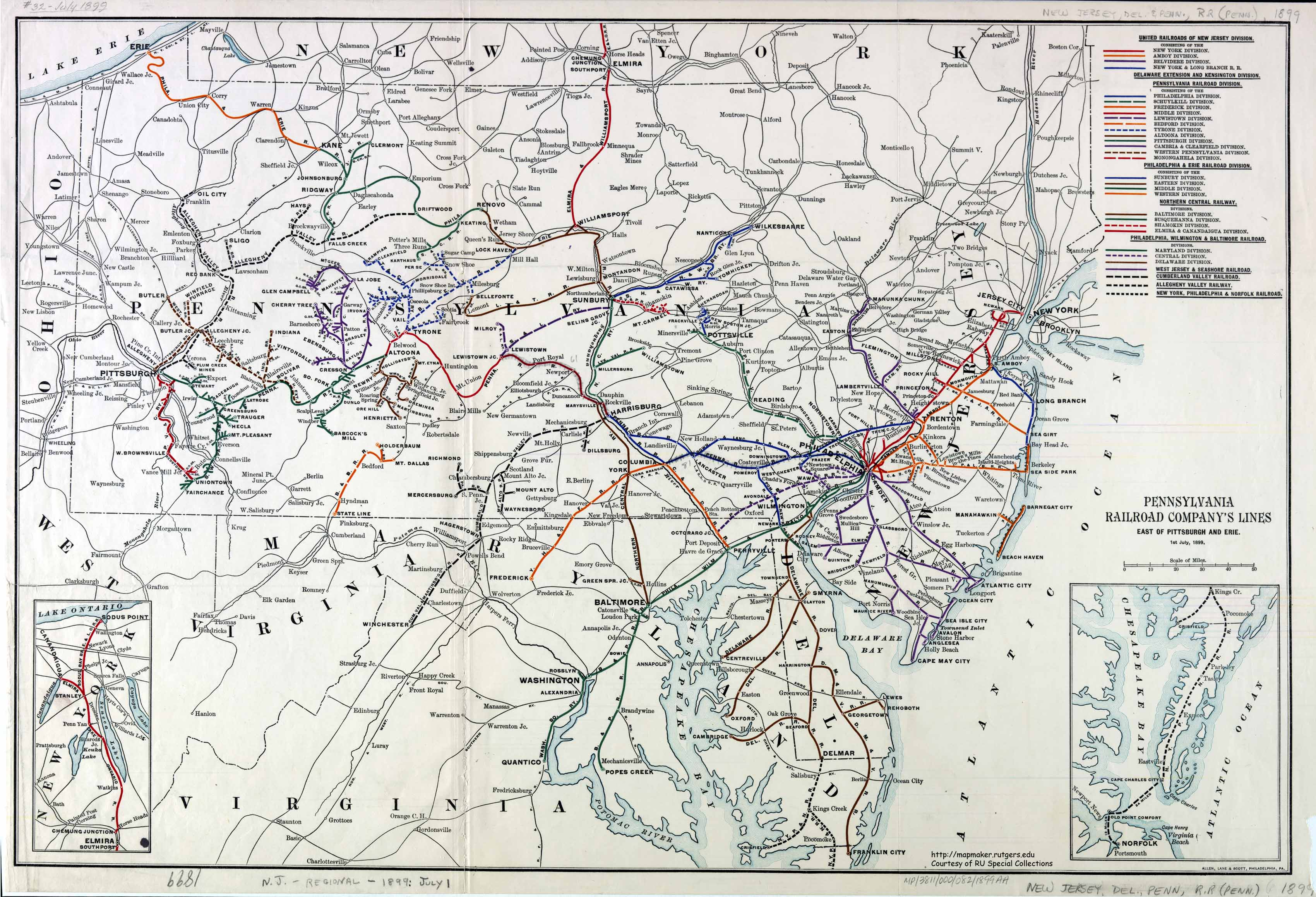 Maps And Atlases Railroads In Pennsylvania Library Guides At - Pennyslvania map