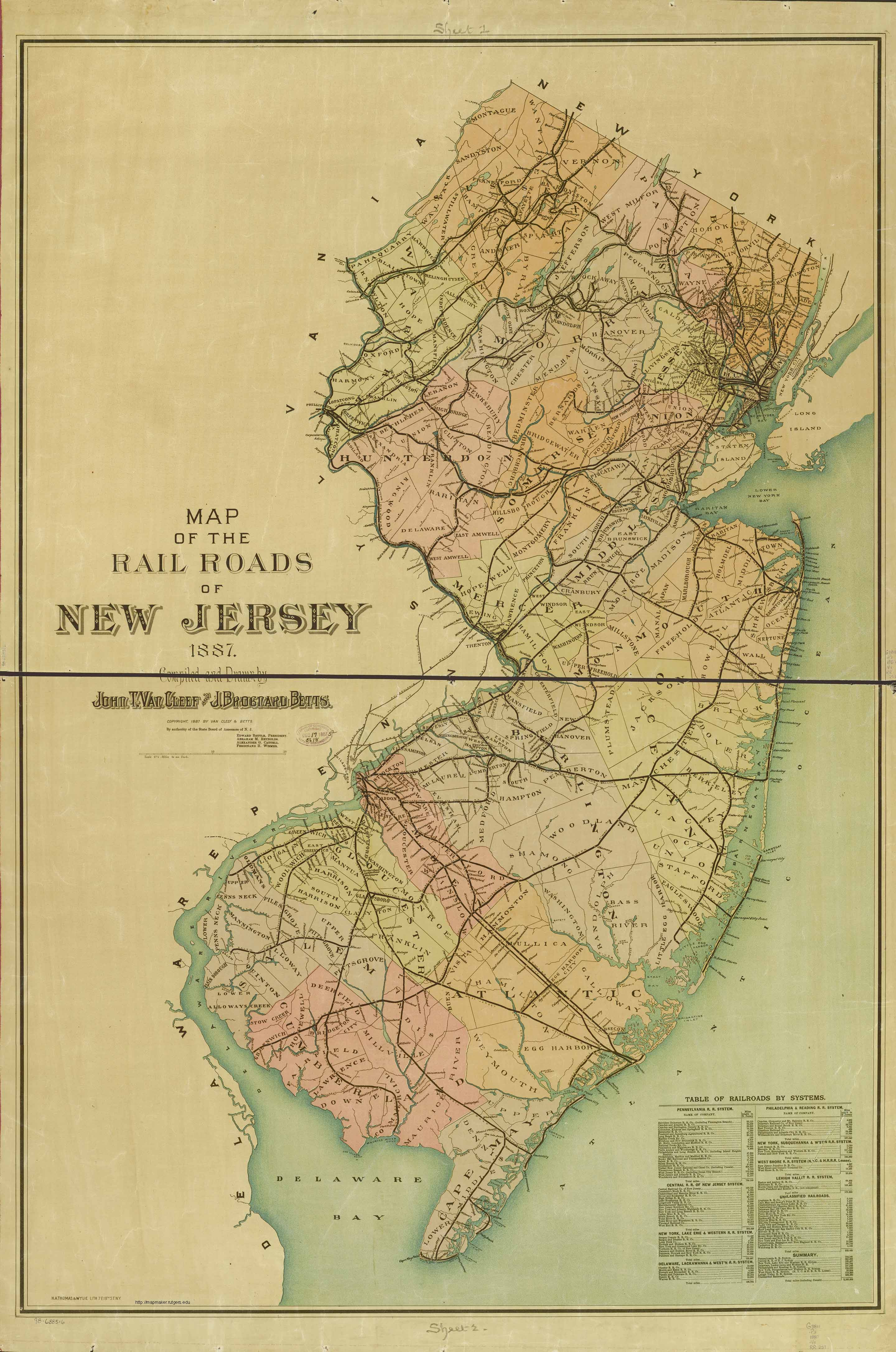 Historical New Jersey Railroad Maps - Maps of new jersey