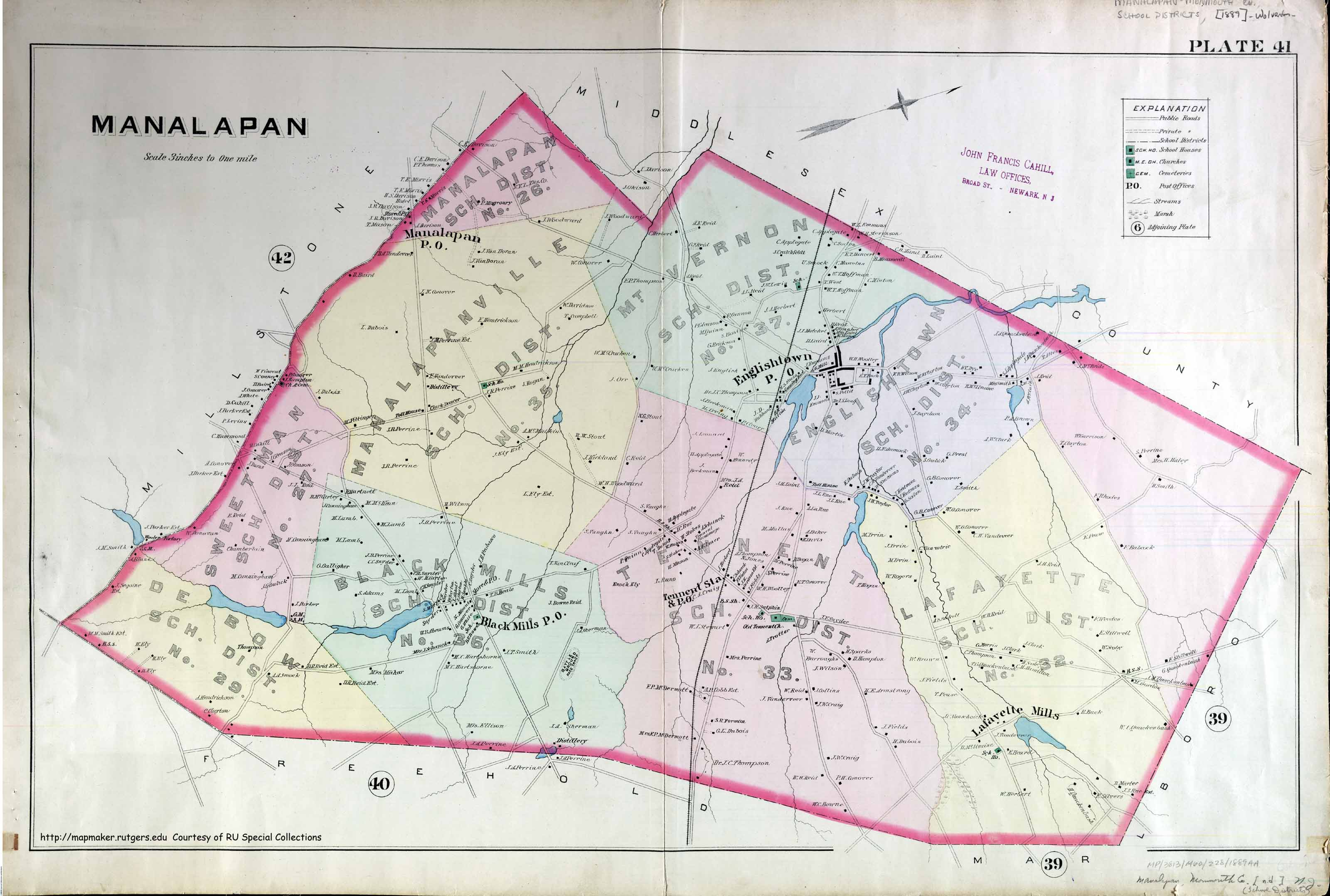 Image result for maps of manalapan nj