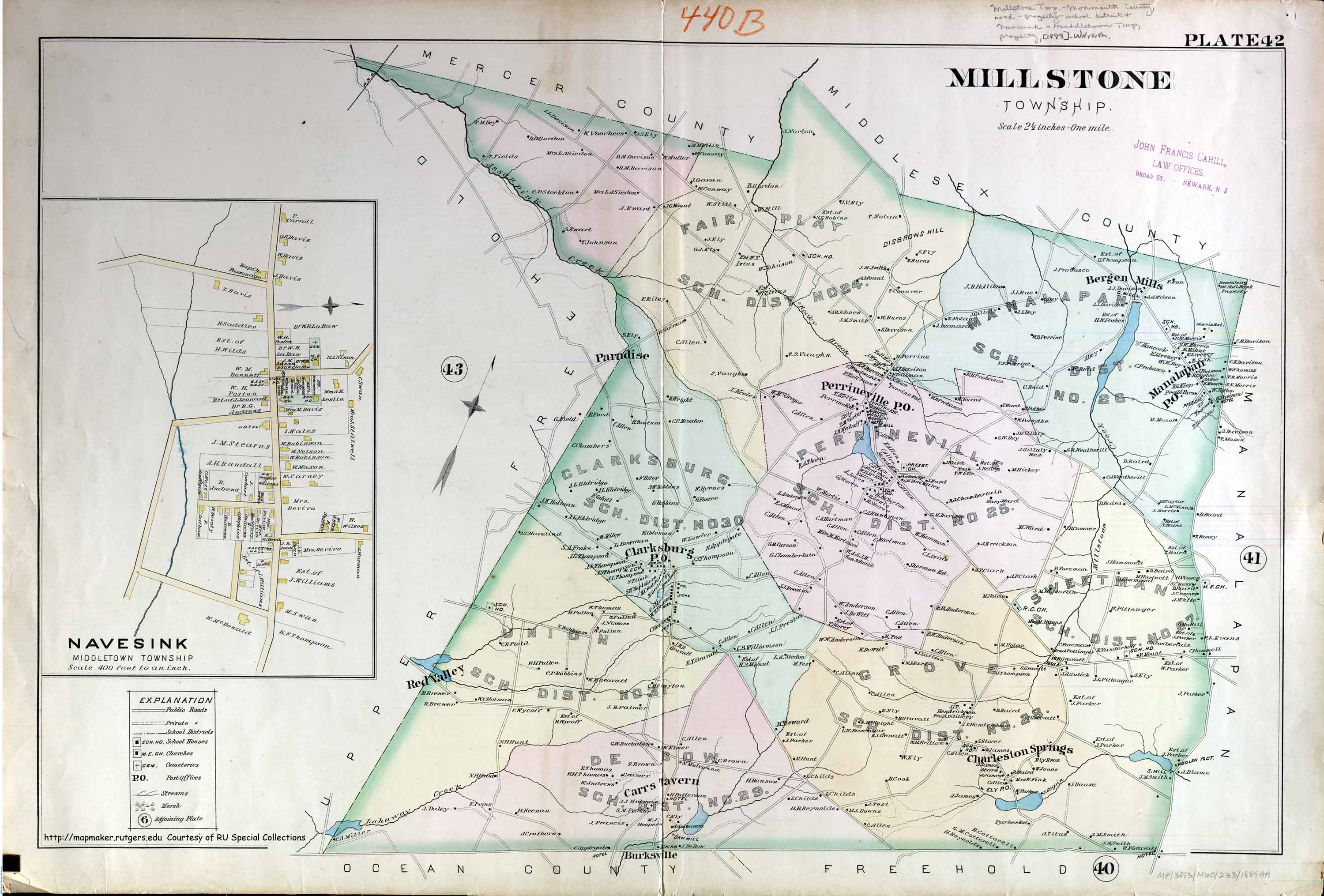 Historical Monmouth County New Jersey Maps