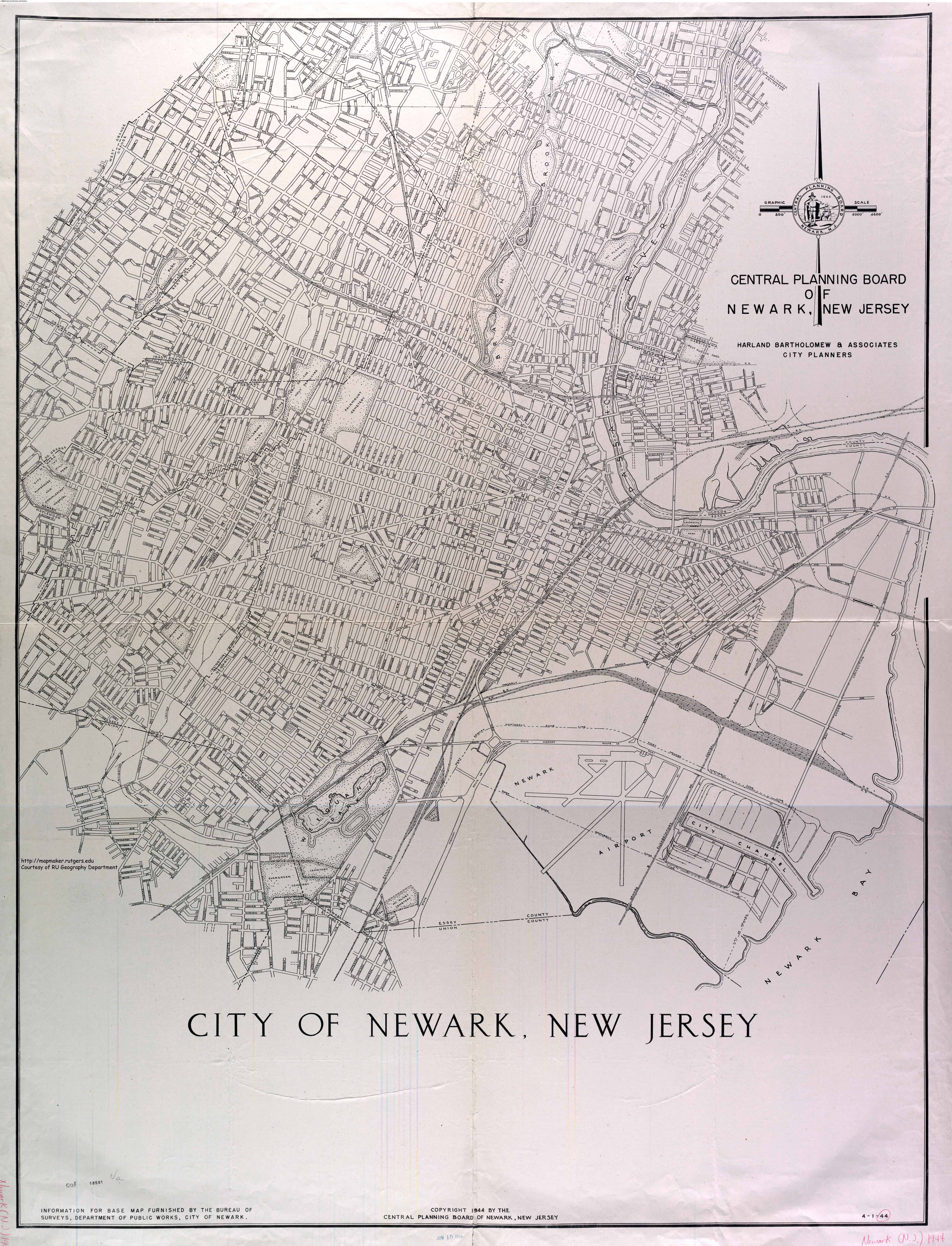 Newark Maps The Newark Experience Research Guides At Rutgers