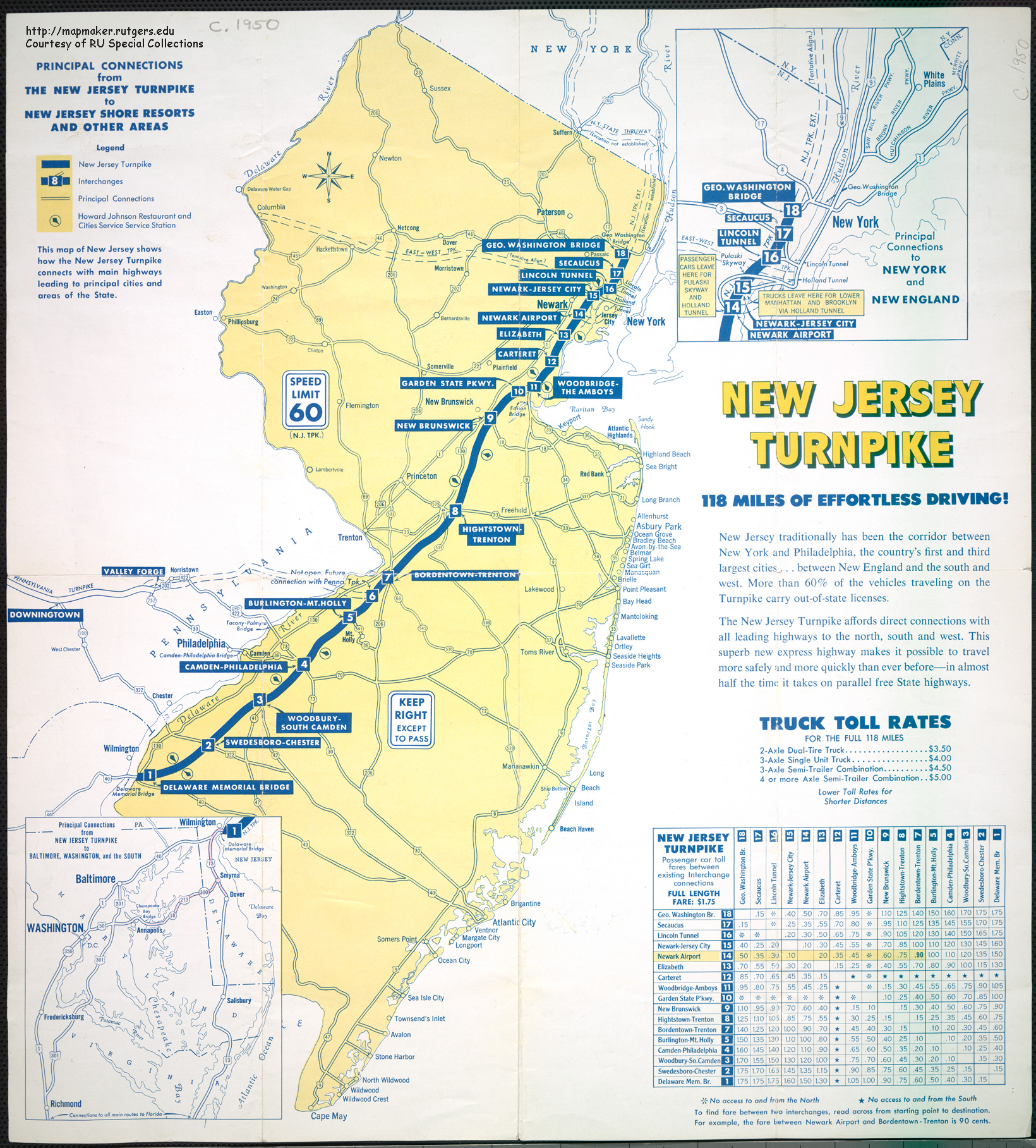 New Jersey Historical Maps - New york city map 1950