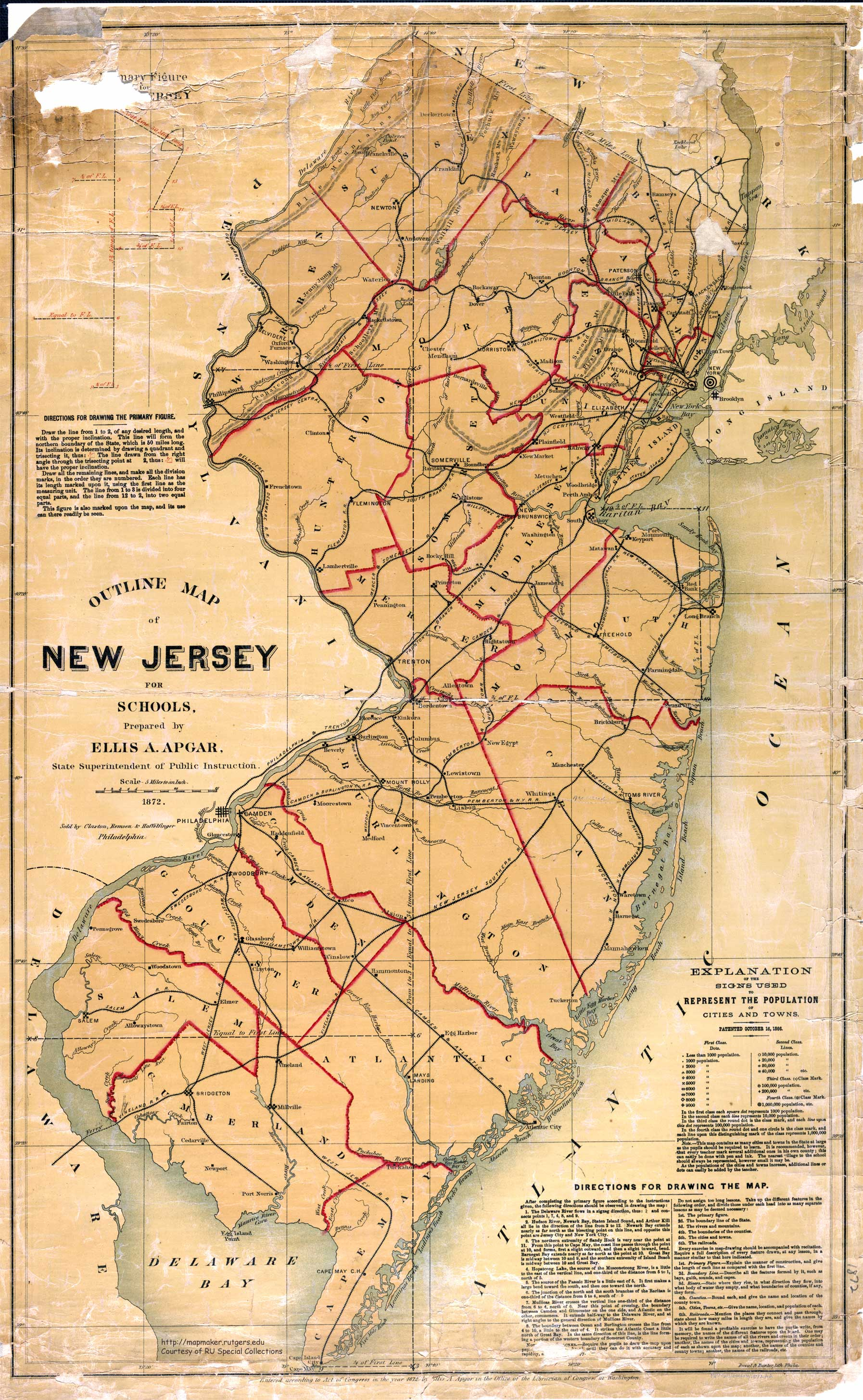 New Jersey Historical Maps - New jersery map