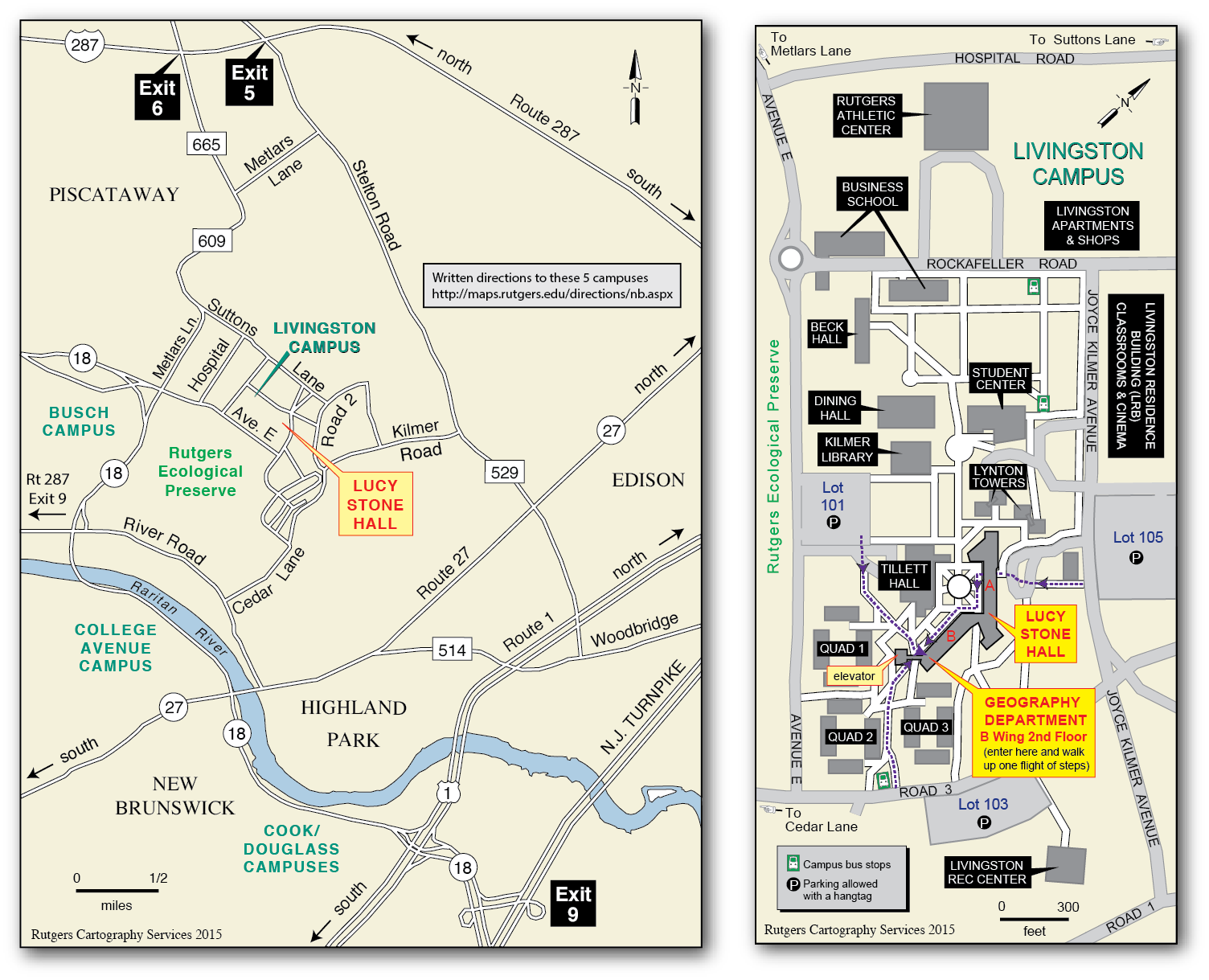 livingston campus and vicinity maps
