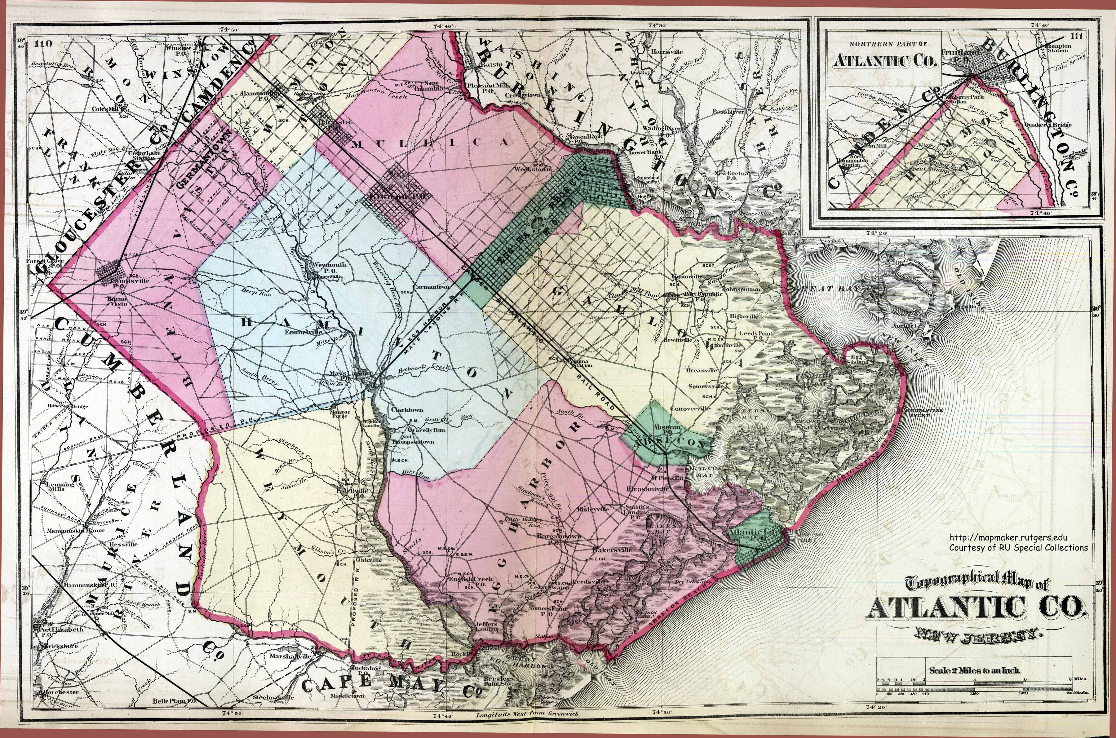 Historical Atlantic County New Jersey Maps