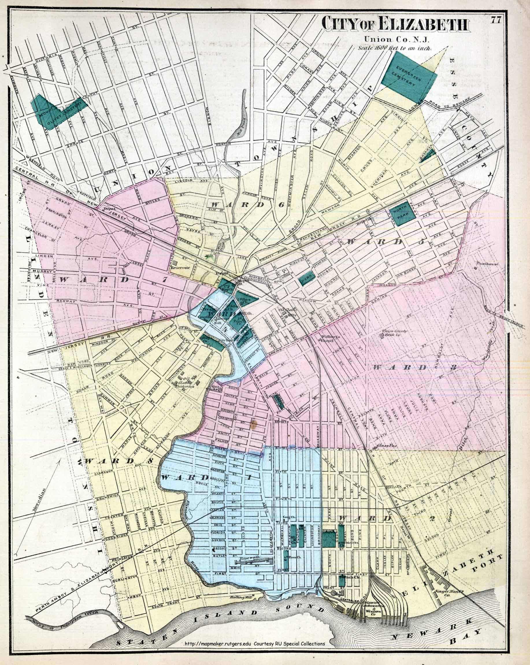 City Of Elizabeth Nj Zoning Map