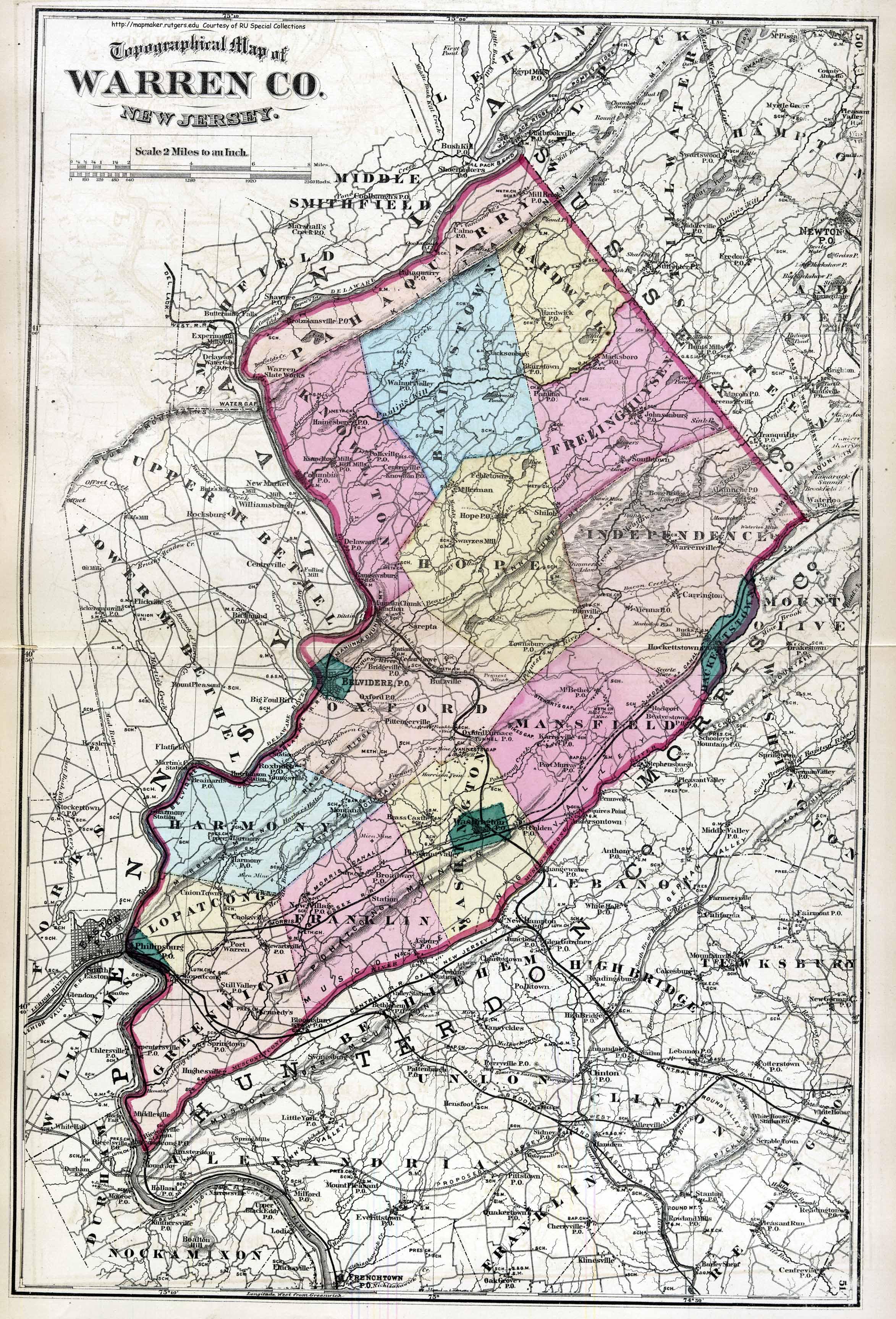 Warren Nj Map Historical Warren County, New Jersey Maps Warren Nj Map