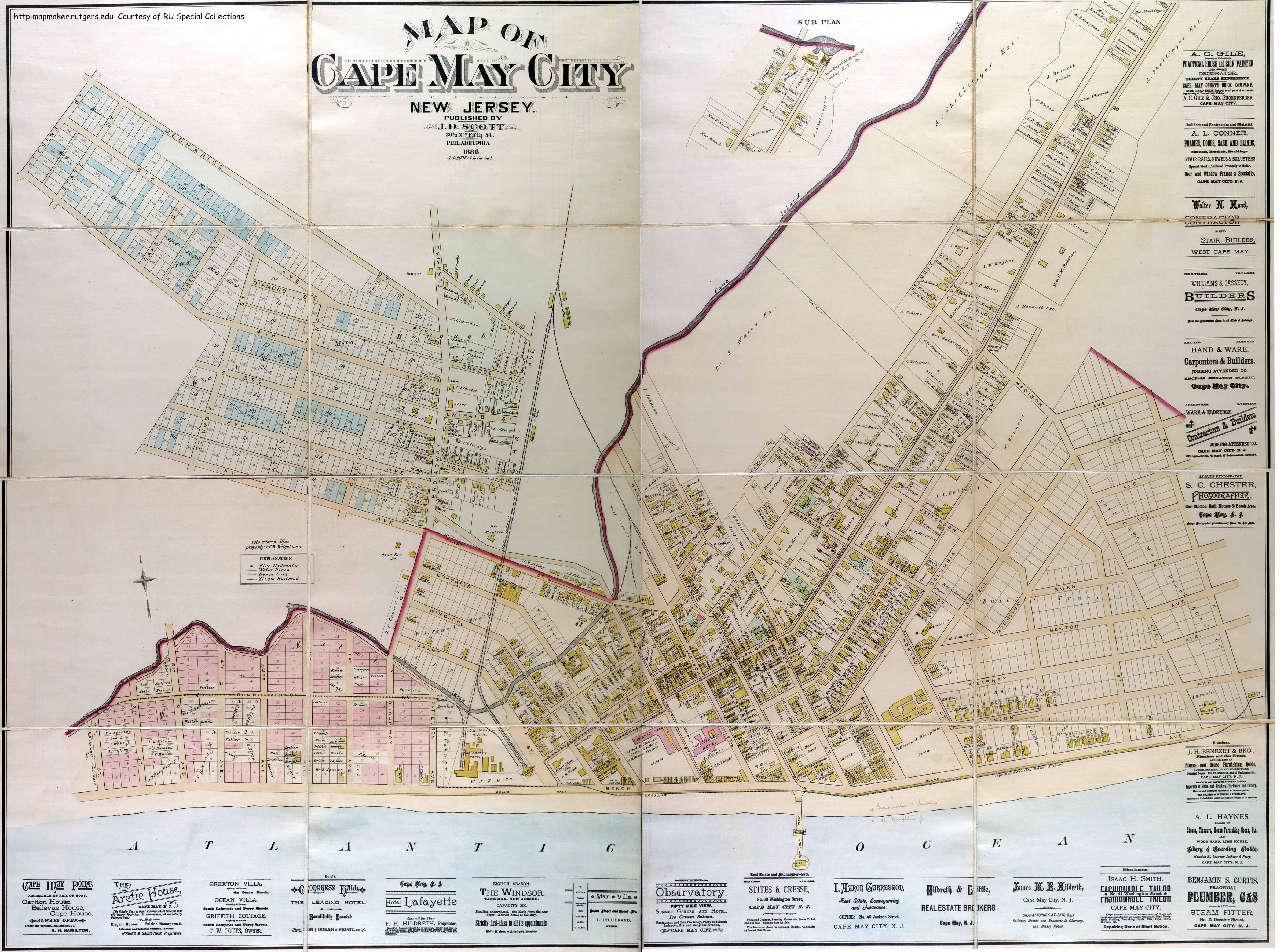 Historical Cape May County, New Jersey Maps