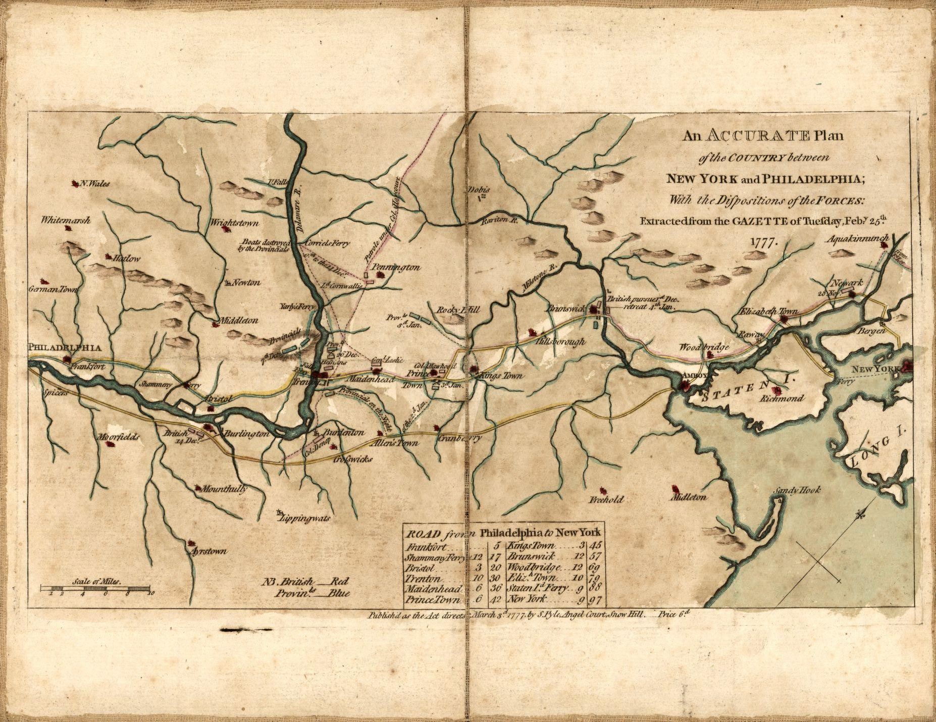 historical new jersey revolutionary war maps