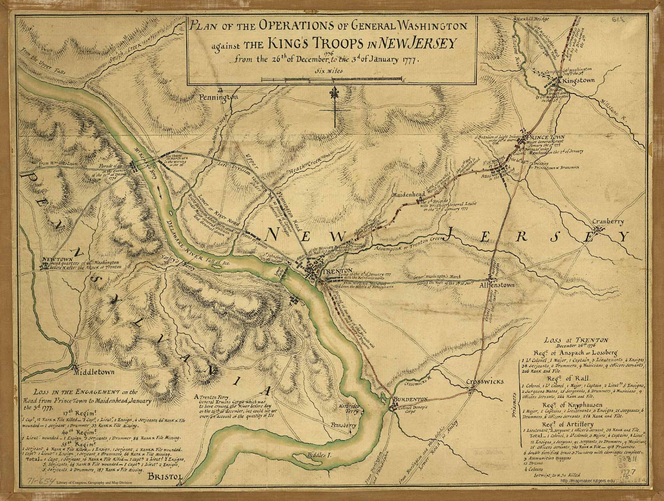Historical New Jersey Revolutionary War Maps