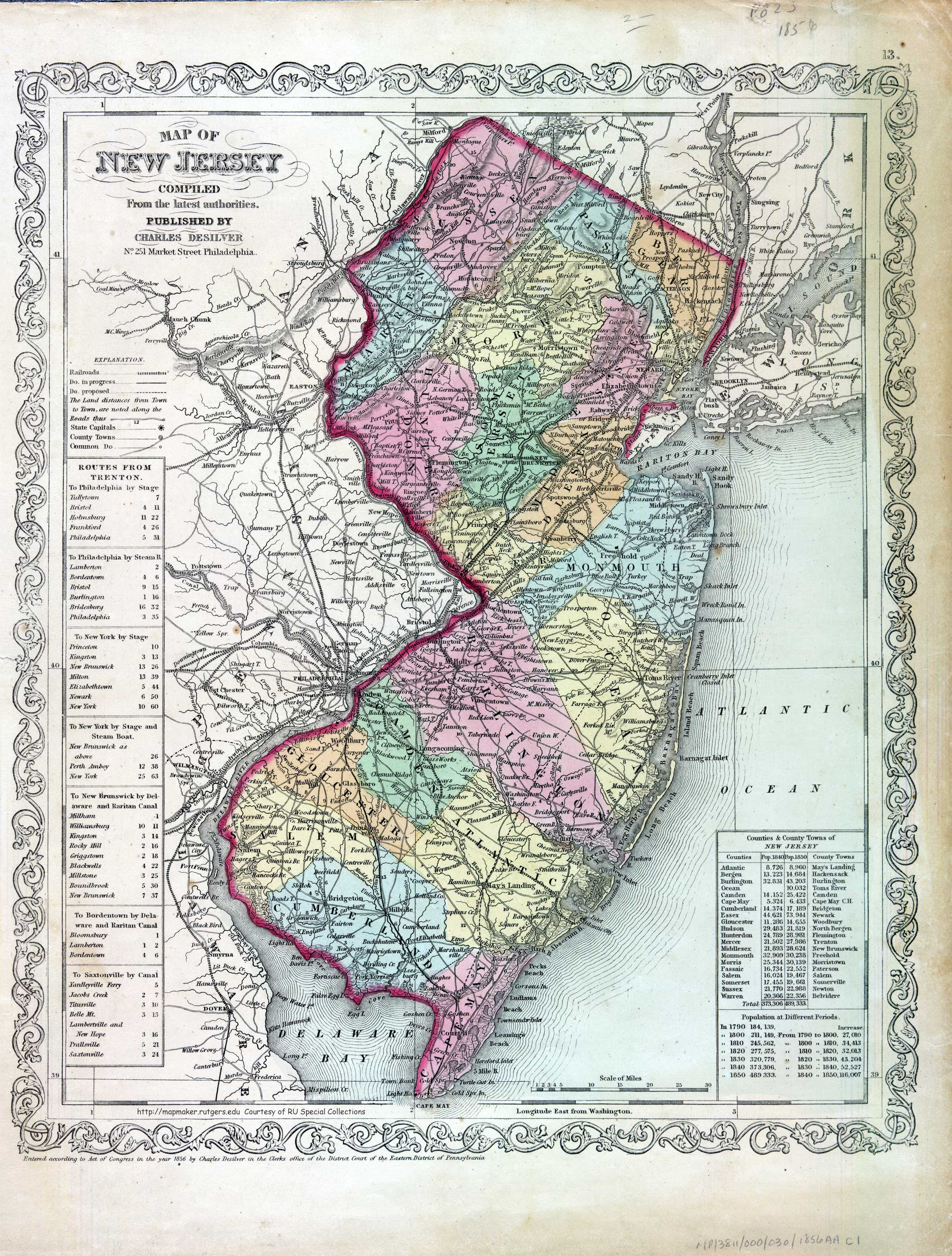 New Jersey Historical Maps