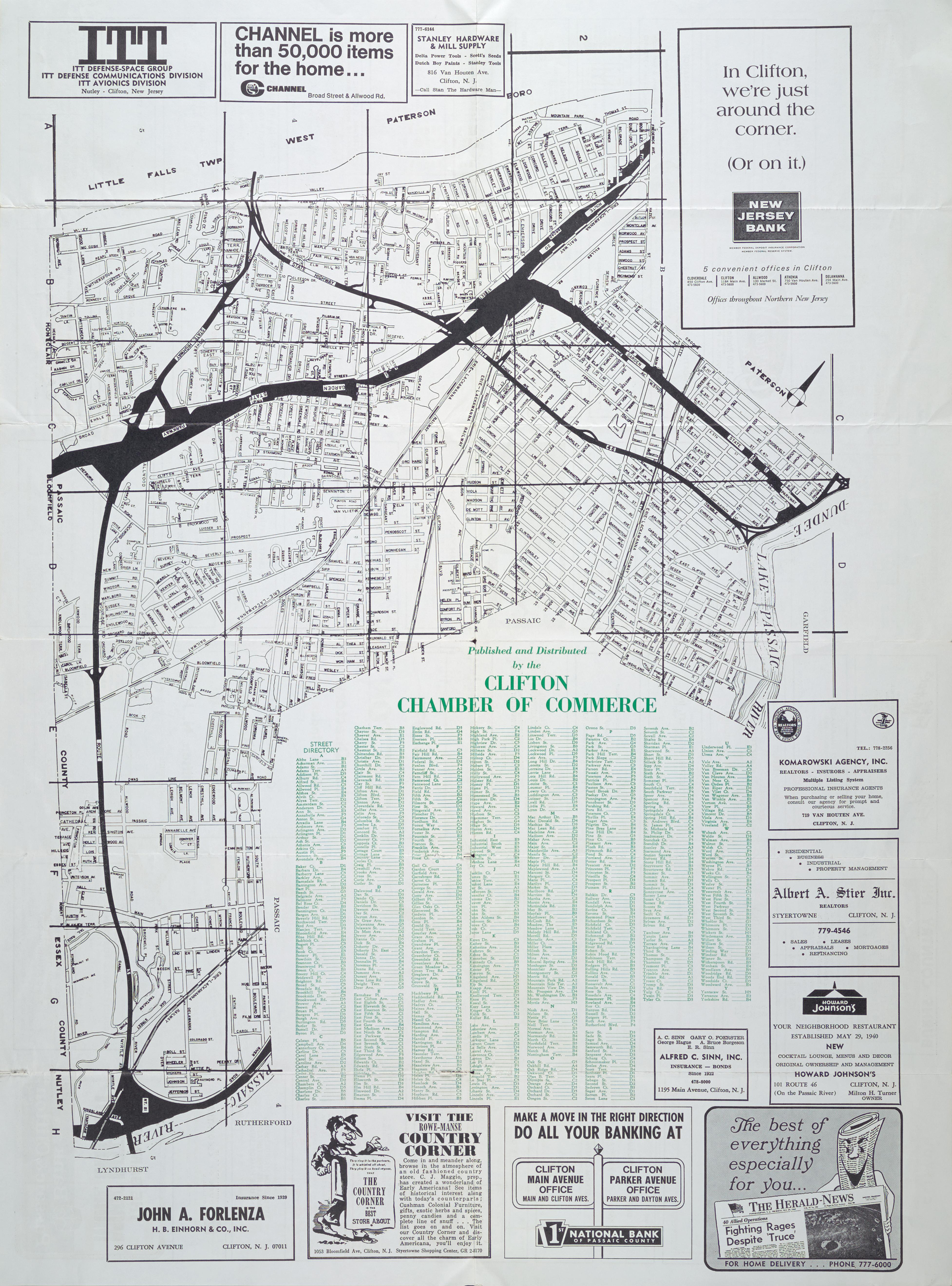 hagstrom bergen county new jersey street map