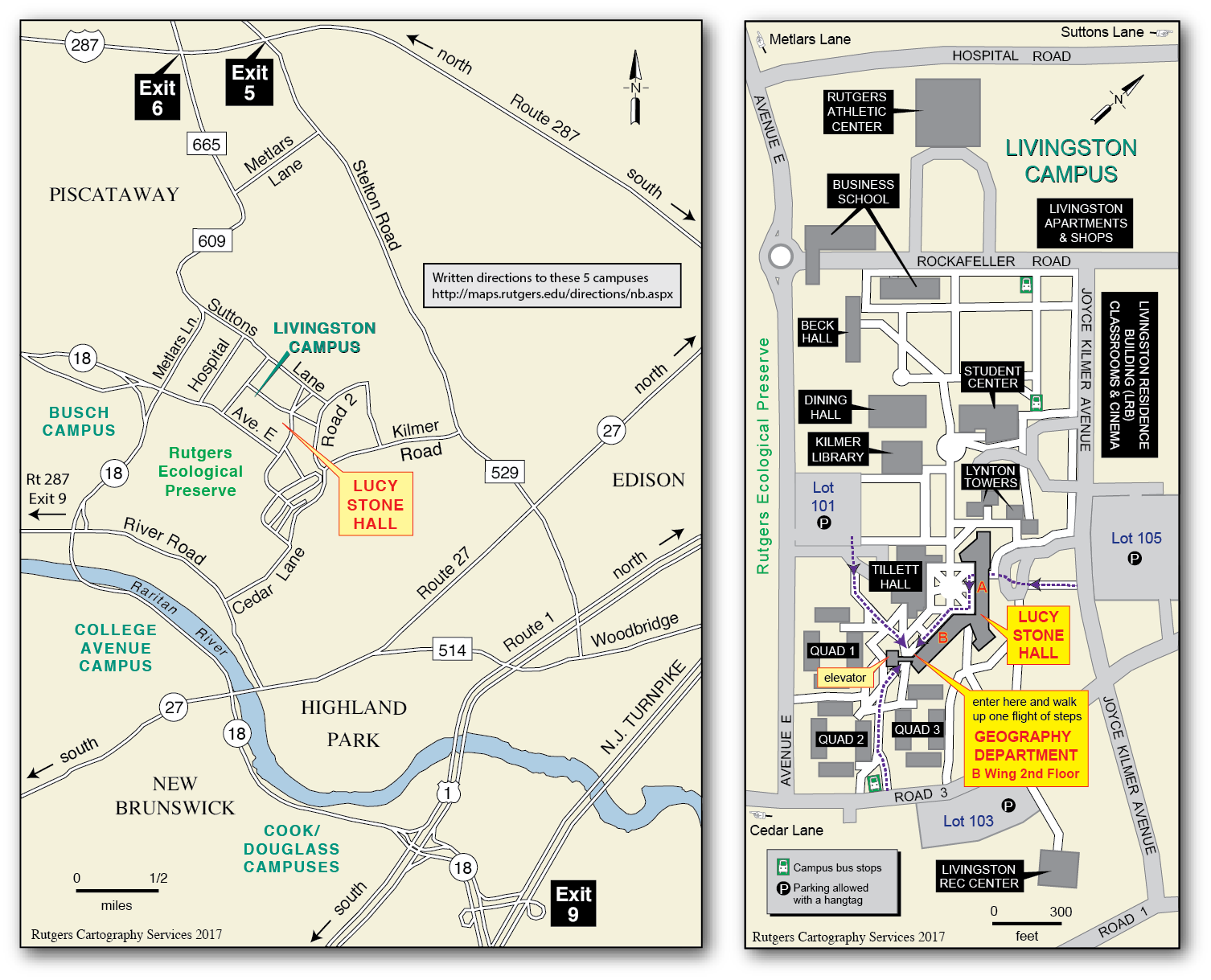 Rutgers cartography lab download a copy of the livingston campus and vicinity map below pdf file ccuart Images